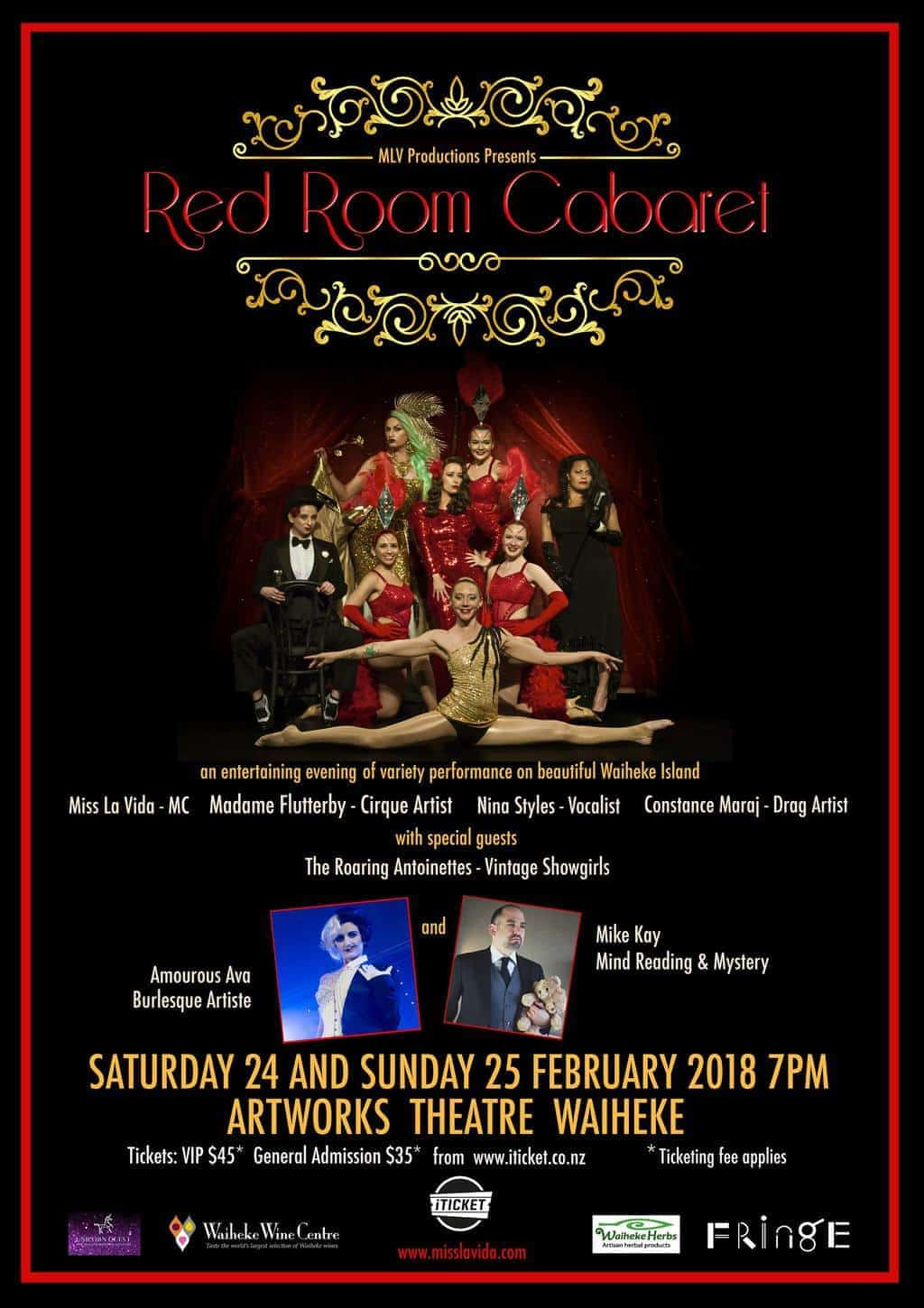 Red Room Cabaret - Auckland Fringe Edition