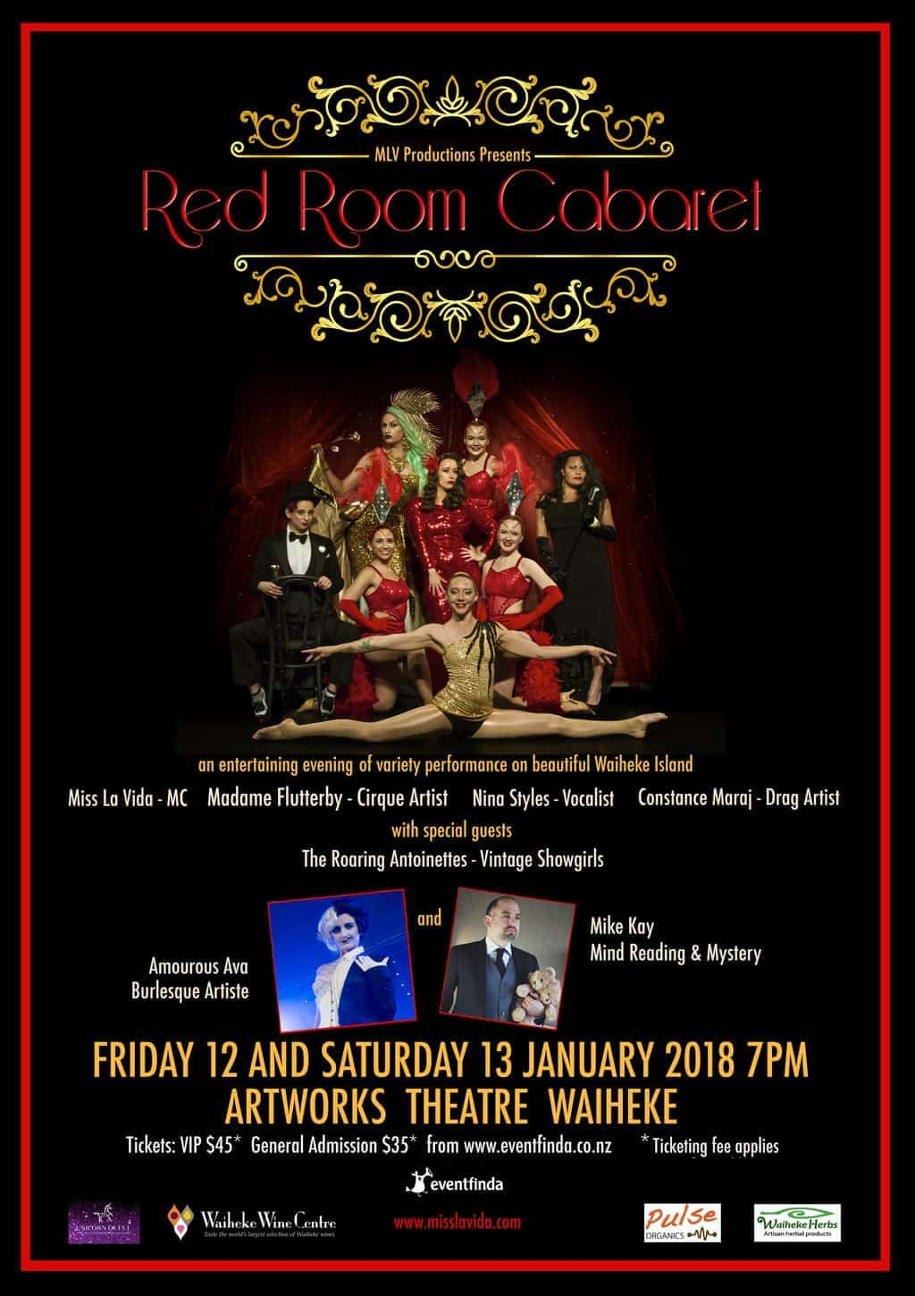 The Red Room Cabaret, January 2018